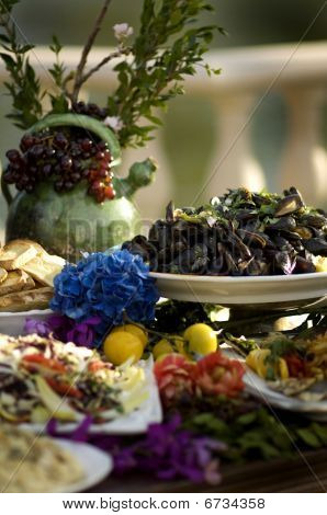 Gorgeous Display Of Food On Decorative Table