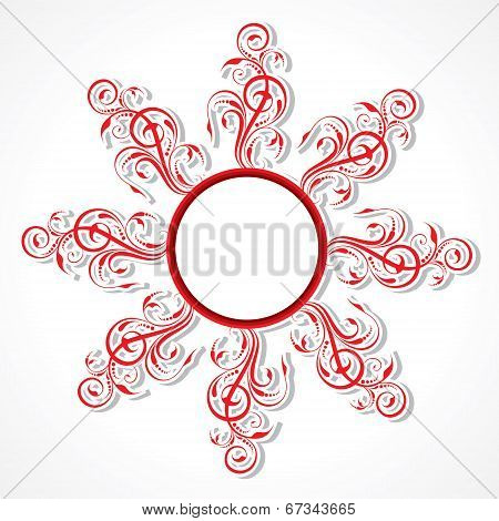 creative floral design background stock vector