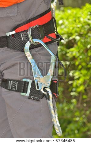 details of person with safety belt