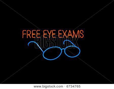 Neon Eyeglasses Sign