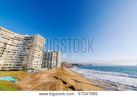 Beach And Apartment Buildings