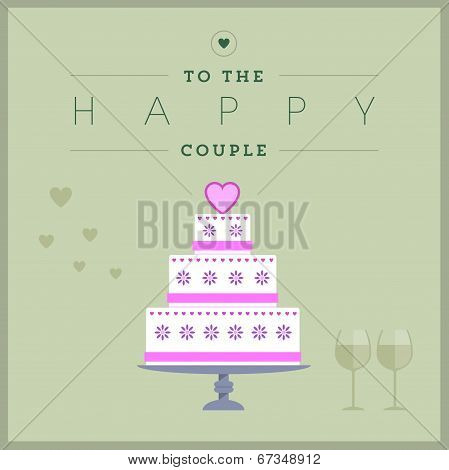 Cake themed wedding card