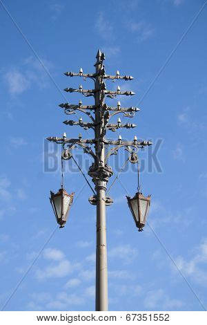 Ancient electric street light