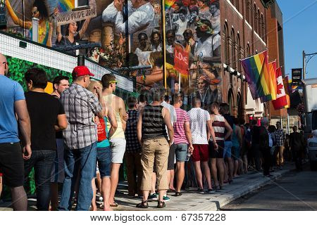 People Queuing For World Pride Event