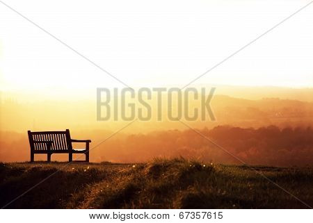 Bench And Sundown.