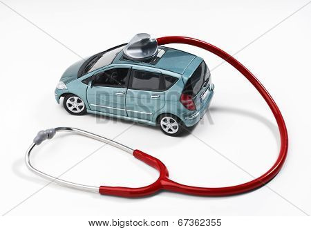 Stethoscope And Car