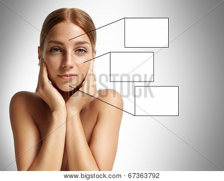 Portrait Of A Woman With Ideal Skin
