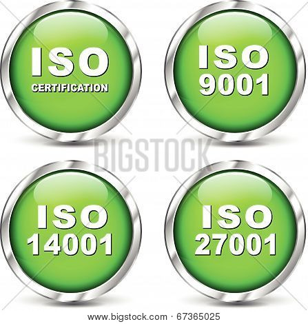 Vector Iso Certification Icons