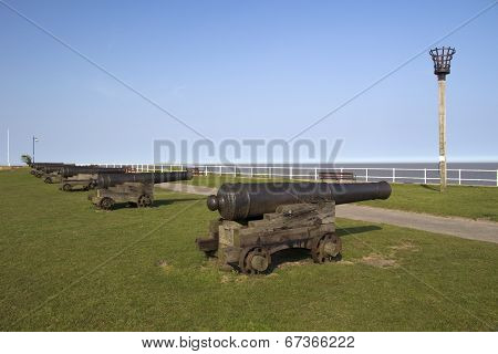 Cannons On Gun Hill, Southwold, Suffolk, England, Europe