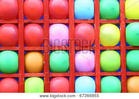 Background Of Motley Balloons