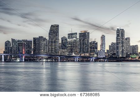 Famous City Of Miami, Special Photographic Processing.