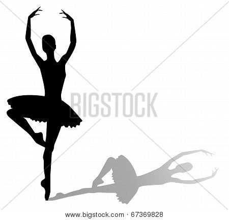 vector silhouette dancing girl