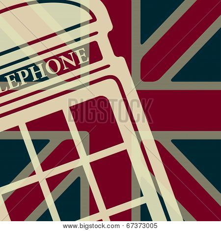Vector telephone box icon. Eps10