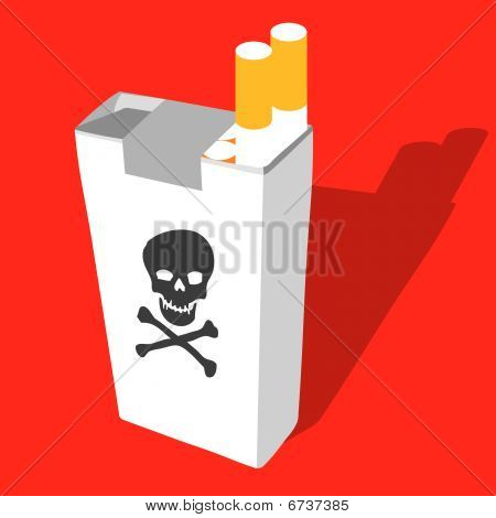 Cigarette Box With Death Symbol