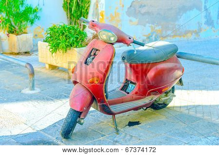 Old Red Scooter