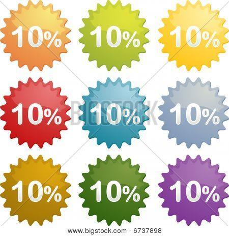 Ten Percent Discount Symbol