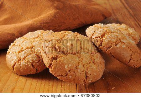 Gourmet Almond Ginger Cookies