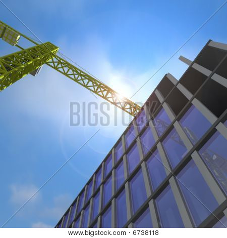 Crane Over Building