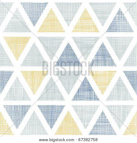 Abstract textile ikat triangles seamless pattern background