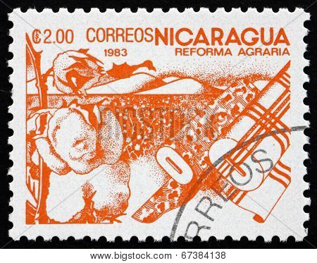 Postage Stamp Nicaragua 1983 Cotton, Agrarian Reform