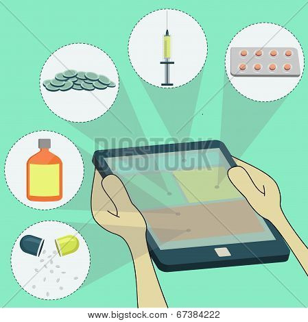 Selecting Remedies Surfing On Tablet