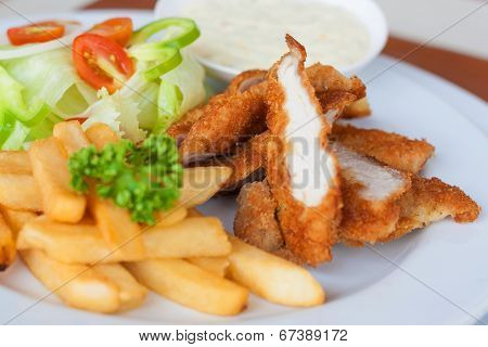 Chicken Strips And Fries Combo
