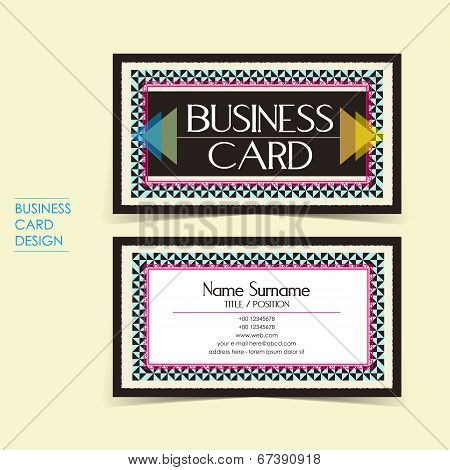 Strong Contrast Vector Business Card Set