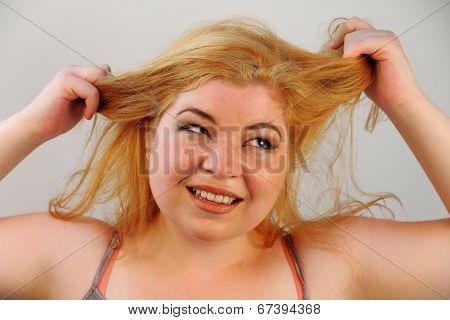 Overwhelmed Hair Pulling