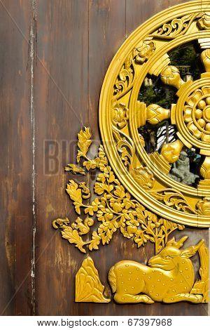 Beautiful Door Of Leng Noei Yi 2 Temple