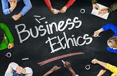stock photo of ethics  - People Working and Business Ethics Concept - JPG
