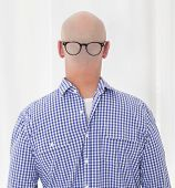 stock photo of bald headed  - back of a bald - JPG