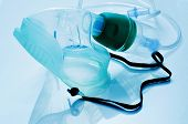 pic of oxygen mask  - closeup of a medical oxygen mask - JPG