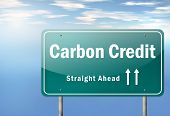 foto of carbon-footprint  - Highway Signpost Image Graphic with Carbon Neutrality wording - JPG