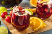 picture of sangria  - Homemade Delicious Red Sangria with Limes Oranges and Apples - JPG