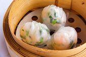 image of chinese menu  - Dimsum in the steam basket  - JPG