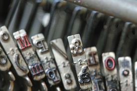 stock photo of ampersand  - letter ampersand of a typewriter of a journalist