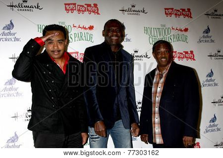 LOS ANGELES - NOV 30:  Kool and the Gang at the 2014 Hollywood Christmas Parade at the Hollywood Boulevard on November 30, 2014 in Los Angeles, CA
