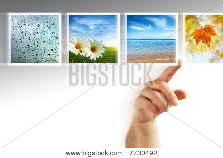 Pantalla táctil de fotos