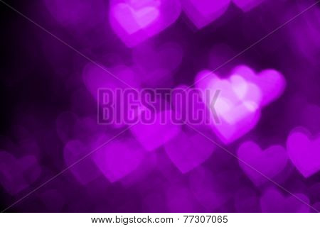 purple heart shape holiday photo background