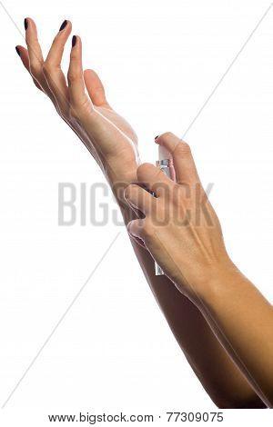 Hands Putting Fragance