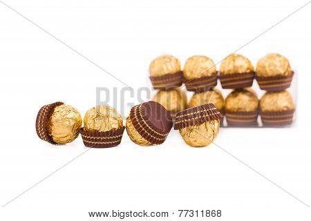 Goldish sweets.