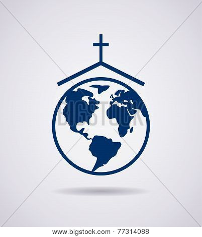 Vector Symbol Or Icon Of Church
