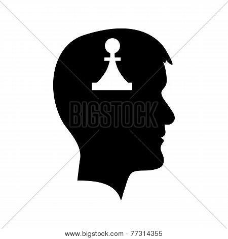 Man head with piece vector