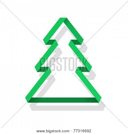 Paper Christmas Tree, vector eps10 format