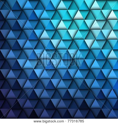 Blue Geometric Pattern, vector eps10 illustration