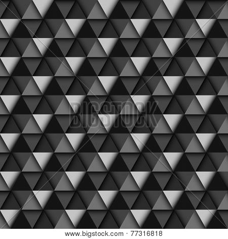 Black and White Geometric Pattern, vector eps10 illustration