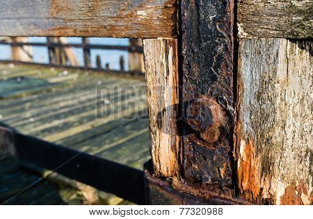 Closeup Of A Derelict Jetty