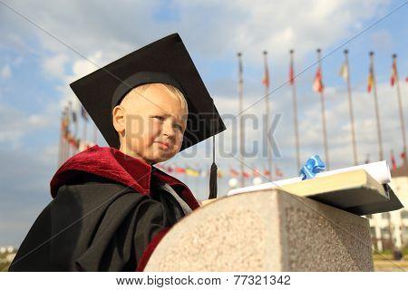 graduate  on a background of international university