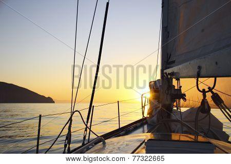 sunrise on a yacht