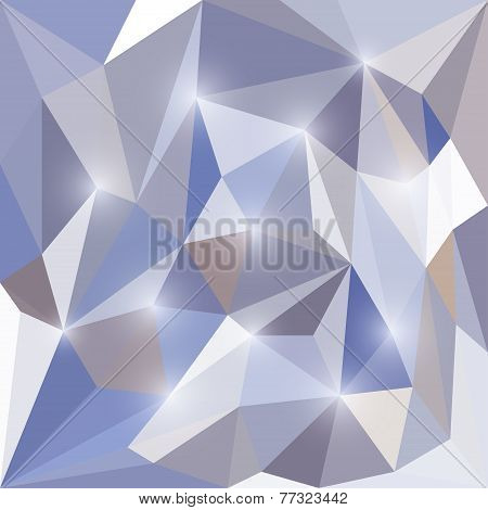 abstract vector triangle geometric background with lights for use in design